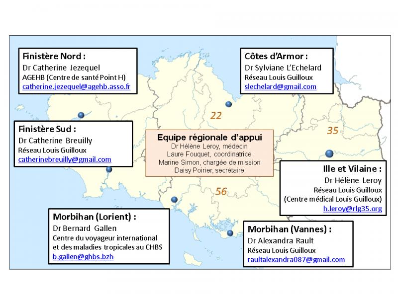L'équipe du dispositif régional DATASAM